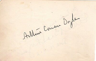 Sir Arthur Conan Doyle, hand signed autograph, Ellen Beach Yaw also signed