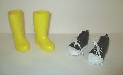 Htf Lot Of 2 Pairs Madame Alexander Doll Shoes Boots Sneakers
