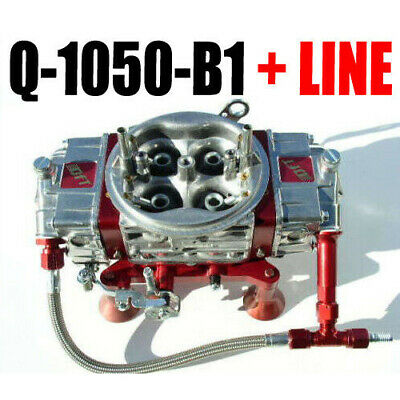 Quick Fuel Q 1050 B1 1050 Cfm Soplador Supercargador Carburador And #6 Red Line