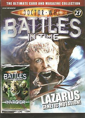 *doctor Who: Battles In Time # 27- Lazarus! + 1 Pack Of Trading Cards [N9]