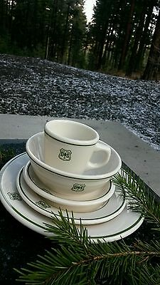 FOREST SERVICE. DISHWARE . 5 piece HOLIDAY * AHEAD* SPECIAL * FREE SHIPPING.**