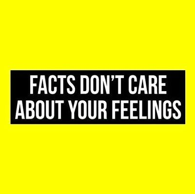 """""""FACTS DON'T CARE ABOUT YOUR FEELINGS"""" Anti Liberal BUMPER STICKER window decal"""