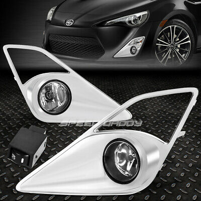 fits 12 16 scion fr s toyota gt86 clear projector fog lightsfor 13 16 scion frs ft86 gt86 clear lens oe driving pair fog