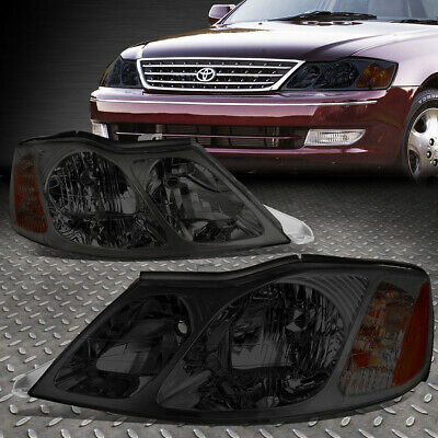 For 2000-2004 Toyota Avalon Pair Smoked Housing Amber Corner Headlight/lamp Set