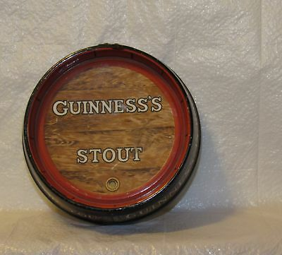 Guinness Stout Barrel Ashtray Shaped to look Barrel Top Or Keg Nice Vintage