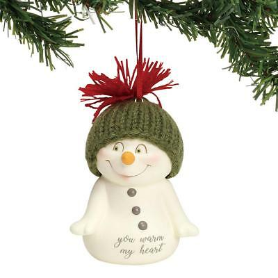 Dept 56 Snowpinions New 2018 YOU WARM MY HEART SNOWPINION ORNAMENT 6001966