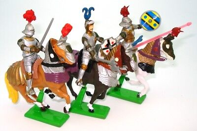 Britains Herald - Three Mounted Knights - Mint - Bargain - *