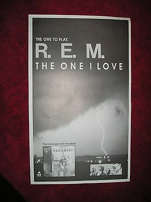 REM - 1987 US Full-Page Ad 'The One I Love' Single (Album Network) W/Bonus Items