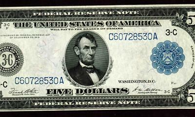 $5 1914 (( EXTREMELY FINE + )) Federal Reserve Note ** MORE CURRENCY FOR SALE