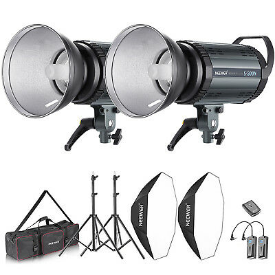 Neewer Kit de Lumière 600W Flash Strobe Photo Studio 2* 300W Flash Monolight