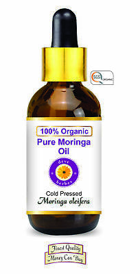Moringa Oil Organic 100% Pure Natural Cold Pressed Therapeutic Moringa oleifera