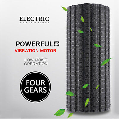 Electric Rechargeable Foam Roller Yoga Pilates Gym Exercise Fitness Massage