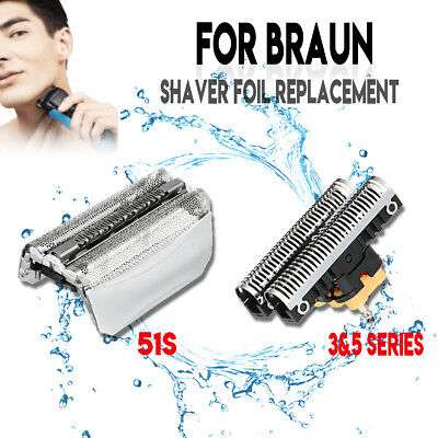 51S Series 5 Foil + Cutter Shaver Blade for Braun  8000 ContourPro 360° Complete