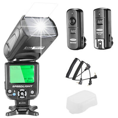 Neewer E-TTL Flash NW562C per Canon con 2.4Ghz Wireless Trigger & Stoffa Pulizia