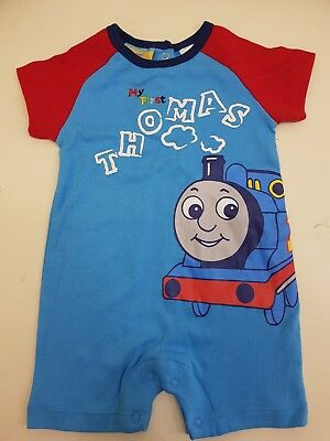 baby boy my first thomas the tank engine one piece outfit size 0