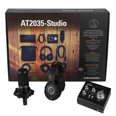 Audio Technica AT2035-STUDIO Bundle incl. Mikro, Kopfhörer, Audient Interface