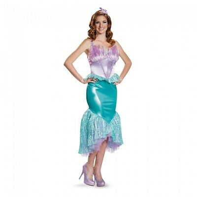 Disguise Disney Sirenetta Ariel Lusso Donne Adulte Costume Halloween 85686 9609349f16f