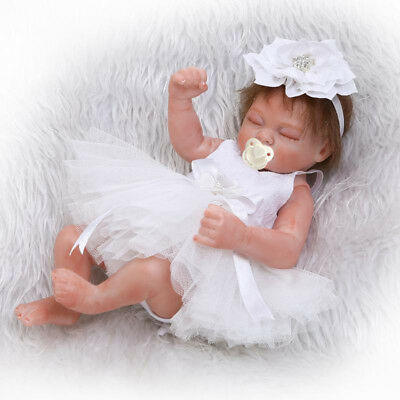 10 inch 26cm Reborn Baby Dolls Realistic Cute Newborn Doll Lifelike White  Girl