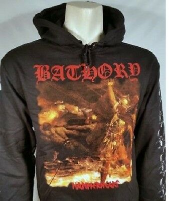 Authentic Bathory Hammerheart Rock Goth Music Metal Hoodie Jacket Pullover S-2Xl