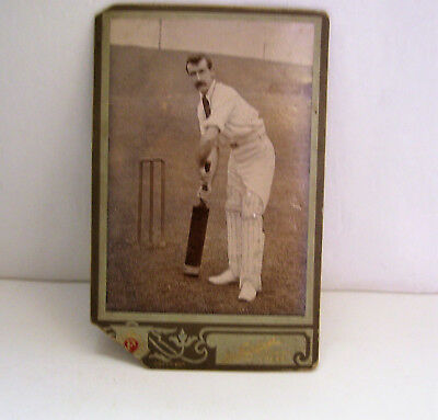Antique Cabinet Card Cricket Player  with Bat  Fairclough Photographer - Crook