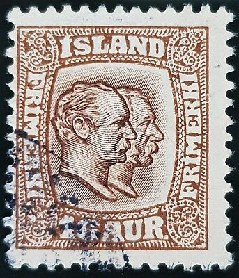 Iceland 1907 to 1908 Sc # 78 Brown 16a Used Stamp