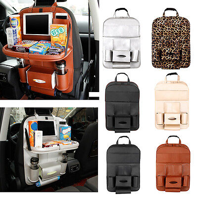 Multi Pocket Auto Car Seat Leather Back Bag Storage Organizer iPad Phone Holder