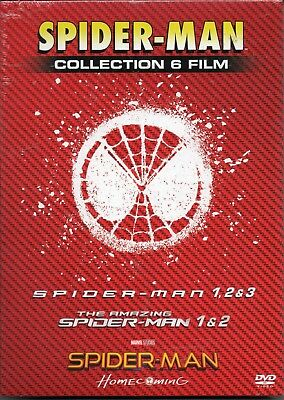 Spider-man collection - 6 dvd compreso Homecoming - nuovo