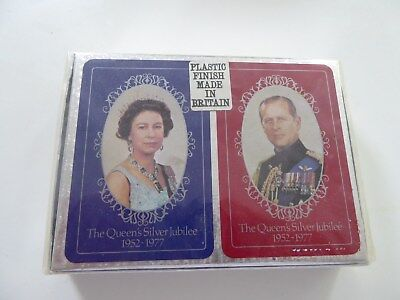 2 pack vintage playing cards Queen Elizabeth commemorative issue