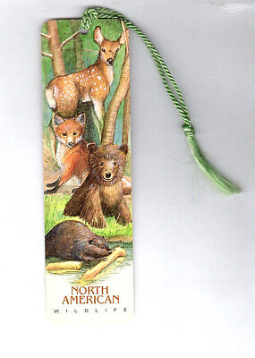Bookmark US North American Wildlife Beaver Grizzly Brown Bear Red Fox Deer Gift