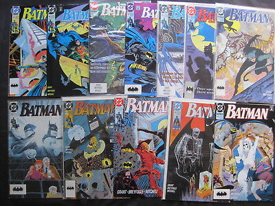 BATMAN  : COMPLETE RUN of ISSUES 455 - 466. SCARECROW, CATWOMAN etc. DC,1990/1
