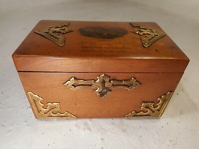 Antique Mauchline Ware  Tea Caddy Box , Dunkeld    ref 4134