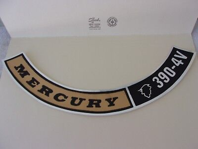 Mercury Montego1968 390  4V Air Cleaner Decal