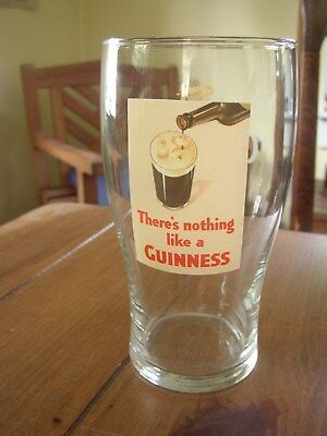 Guinness There's Nothing Like A Guinness full pint Beer Glass