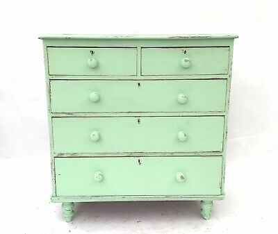 Antique 19th Century French Pine Provencal Bohemian Shabby Chic Chest of Drawers