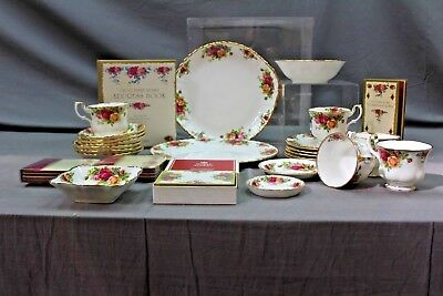 Large Job Lot Of Royal Albert Old Country Roses ##all 233 Sd
