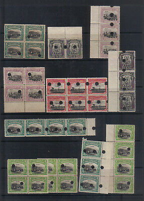 Mozambique Batch of early unmounted mint stamps cancelled with holes