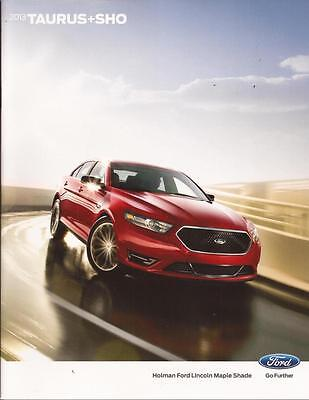 2013 13  Ford Taurus  & SHO  original brochure MINT