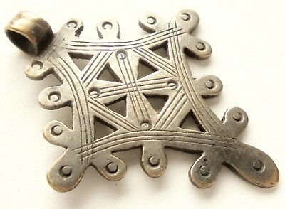 Beautiful Ancient Coptic Cross Medal Pendant
