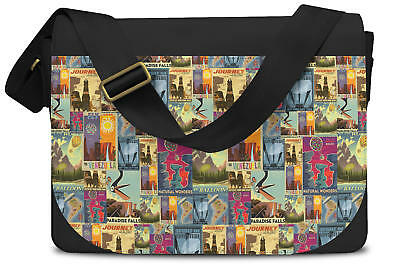 Pixar Up Travel Posters Messenger Bag - Laptop School Shoulder Bag