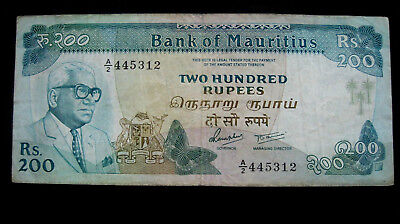Mauritius Banknote 200 Rupees ND (1985) P#39