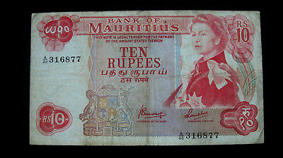 Mauritius Banknote10 Rupees ND (1967) P#31c