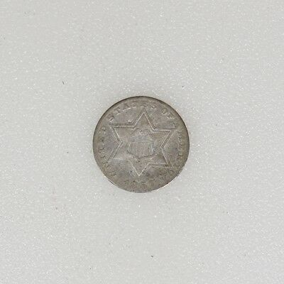 1857 T-2 F/VF Condition Three 3 Cent Silver Trime Nice Strike - I-14147 F
