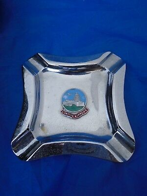 Vintage Metal Ashtray with an Emblem for London Airport