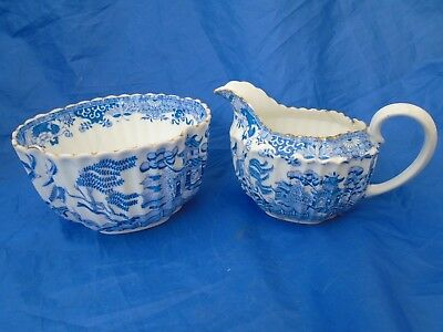 Two Vintage Pieces of Blue & White Copeland China in need of Restoration