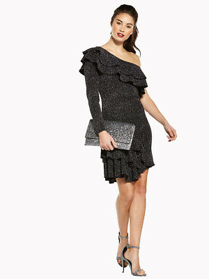 V by Very One Shoulder Frill Dress