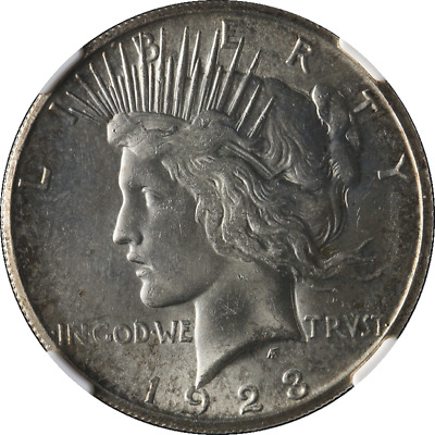 1923-S Peace Dollar NGC MS63 Nice Eye Appeal Nice Luster Nice Strike