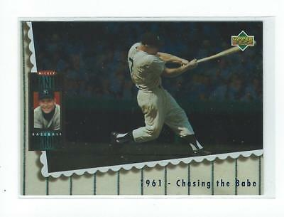 1994 Upper Deck Mantle Heroes #68 Mickey Mantle/1961 Chasing the Babe Yankees