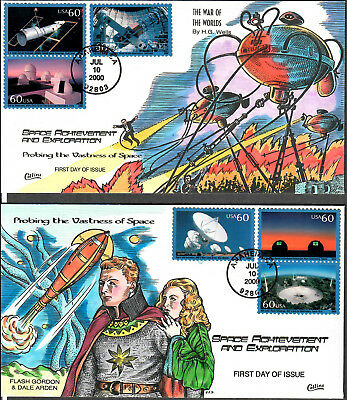 US Collins FDC SC#3409 a-f Probing The Vastness Of Space
