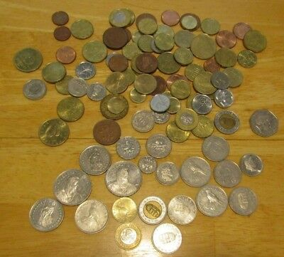 Europe Travel Change 85 Coins 2 Swiss 5 Francs 2-1 Francs 3 Hungary 50 Forint