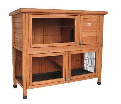 Double Decker Rabbit/ Guinea Pig Hutch, 41-inch By Bunny Business